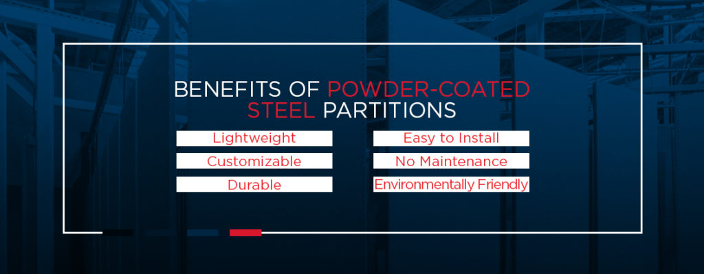 Benefits of Powder-Coated Steel Partitions