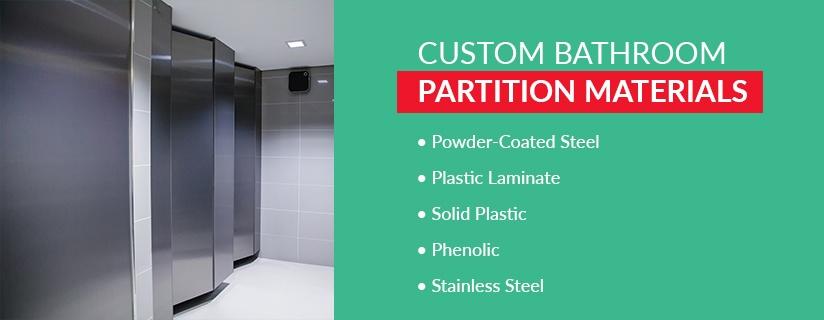 Custom Commercial Bathroom Partition Materials
