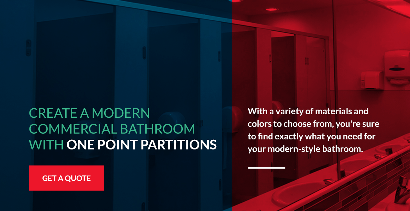Create a Modern Commercial Bathroom With One Point Partitions