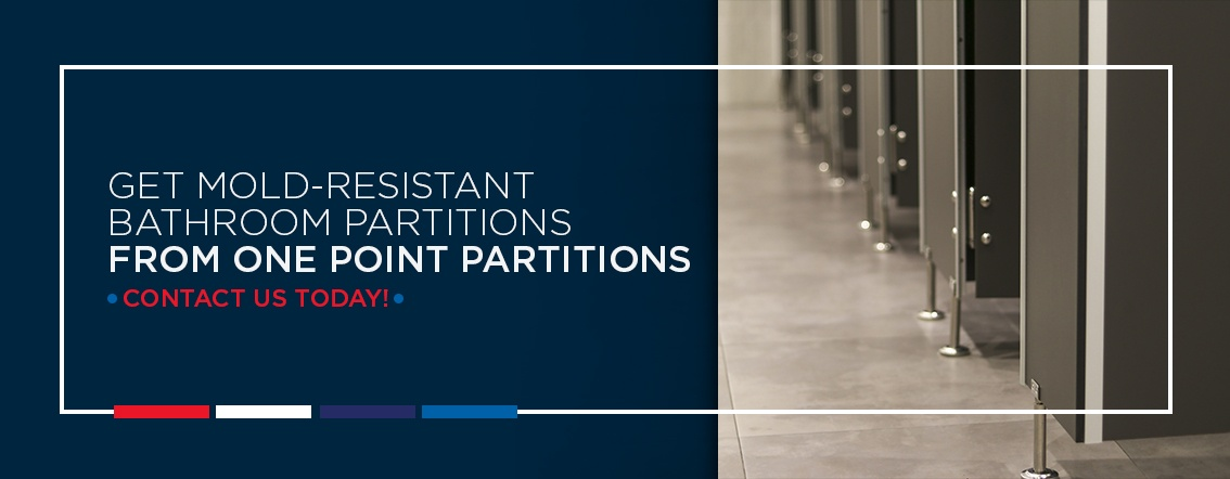Get mold resistant bathroom partitions from One Point Partitions