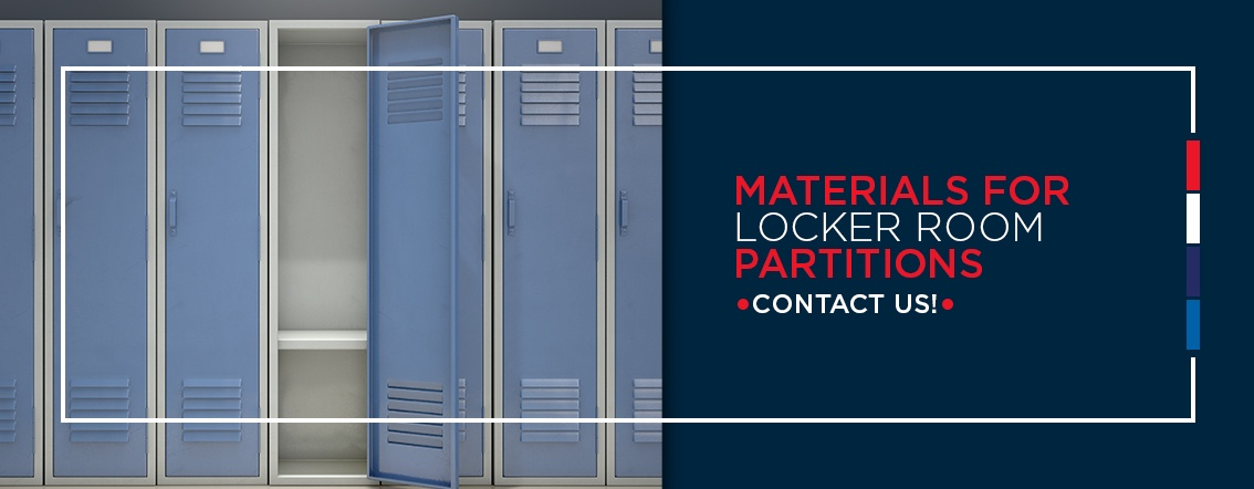 Materials for locker room partitions